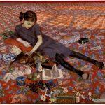 felice-casorati-girl-on-a-red-carpet-1912